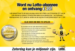 lotto 50 jaar 50 Jaar Lotto; word abonnee en ontvang 20 euro   Geldloterijen lotto 50 jaar